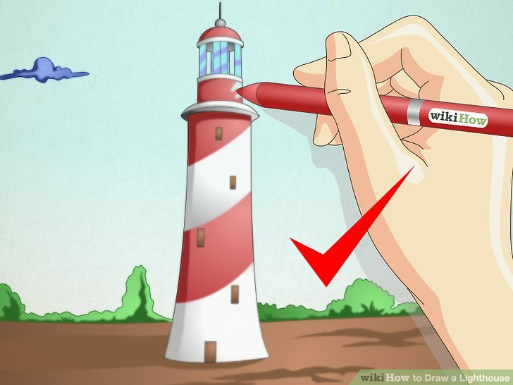 728x546 How To Draw A Lighthouse 7 Steps (With Pictures)