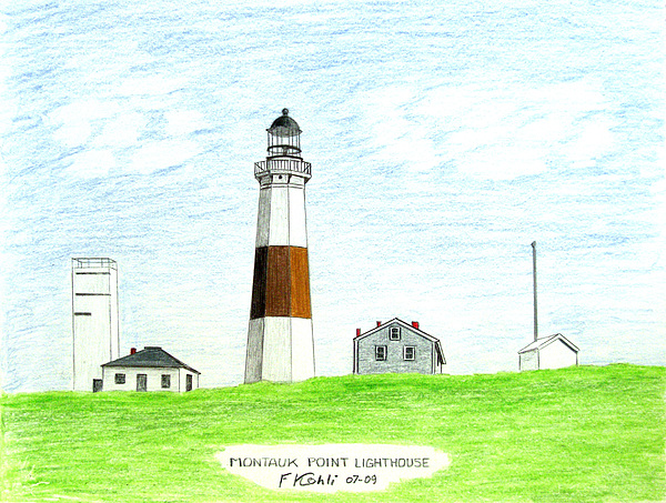 600x453 Montauk Point Lighthouse Drawing By Frederic Kohli