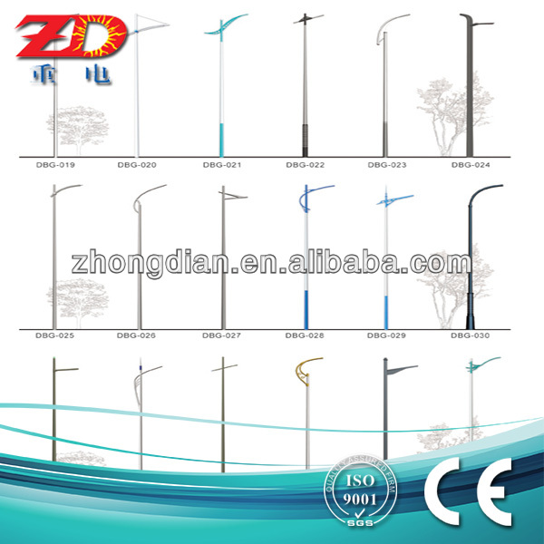 600x600 6m Double Arm Street Light Pole Drawing