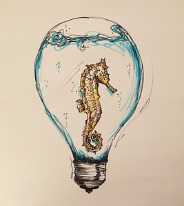 267x300 Lightbulb Drawings Fine Art America