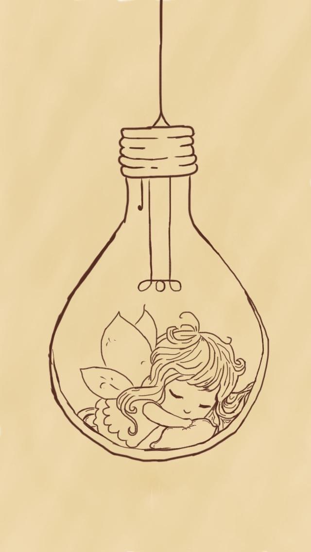 640x1136 Lightbulb Fairy By Lew R
