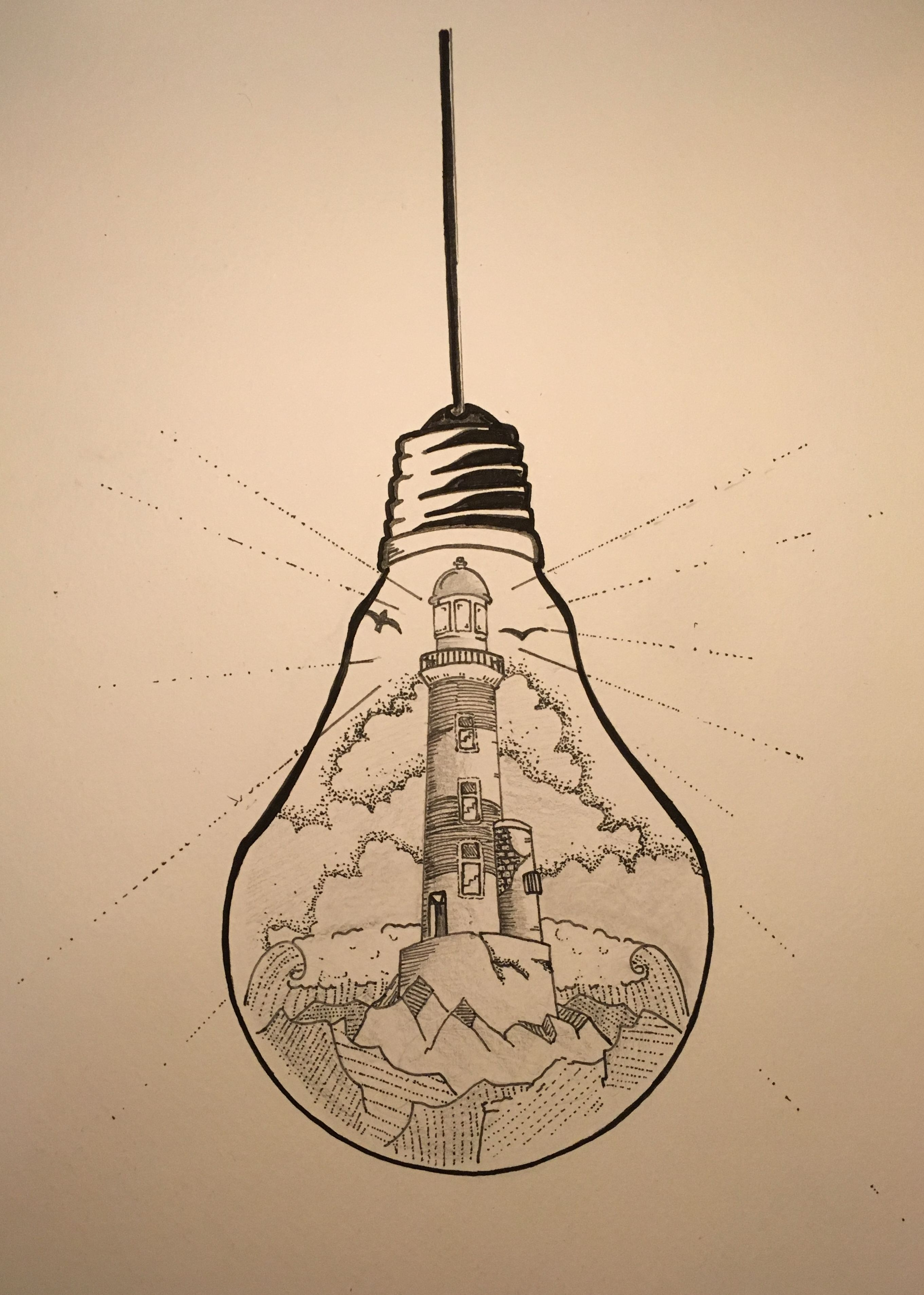 2722x3813 What If There Was A Tiny Lighthouse Inside Of Every Light Bulb