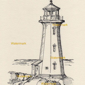 300x300 Lighthouse Drawings And Prints on sale