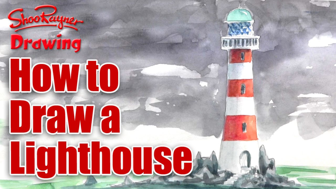 1280x720 How To Draw A Lighthouse