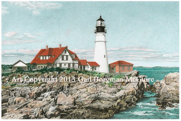 576x387 Gail Borgman Mcguire Art And Illustrations Portland Head