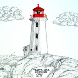 250x250 Lighthouse Drawing, Pencil, Sketch, Colorful, Realistic Art Images