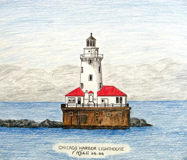 765x652 Drawing Of Lighthouses
