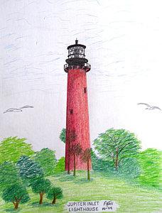 228x300 Florida Lighthouses Drawings Fine Art America
