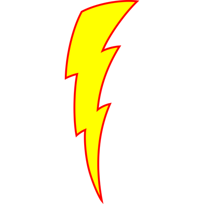 400x400 7 Drawing Of Lightning Bolt. Clipart Panda