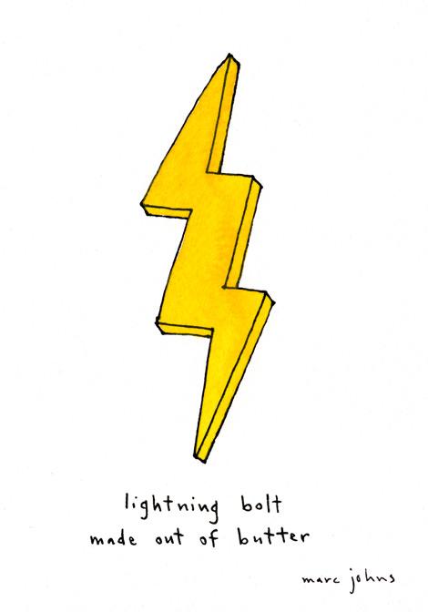 470x672 Lightning Bolt Made Out Of Butter Marc Johns