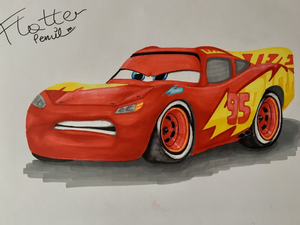 1024x768 Lightning Mcqueen With New Paint Job From Cars 3 By