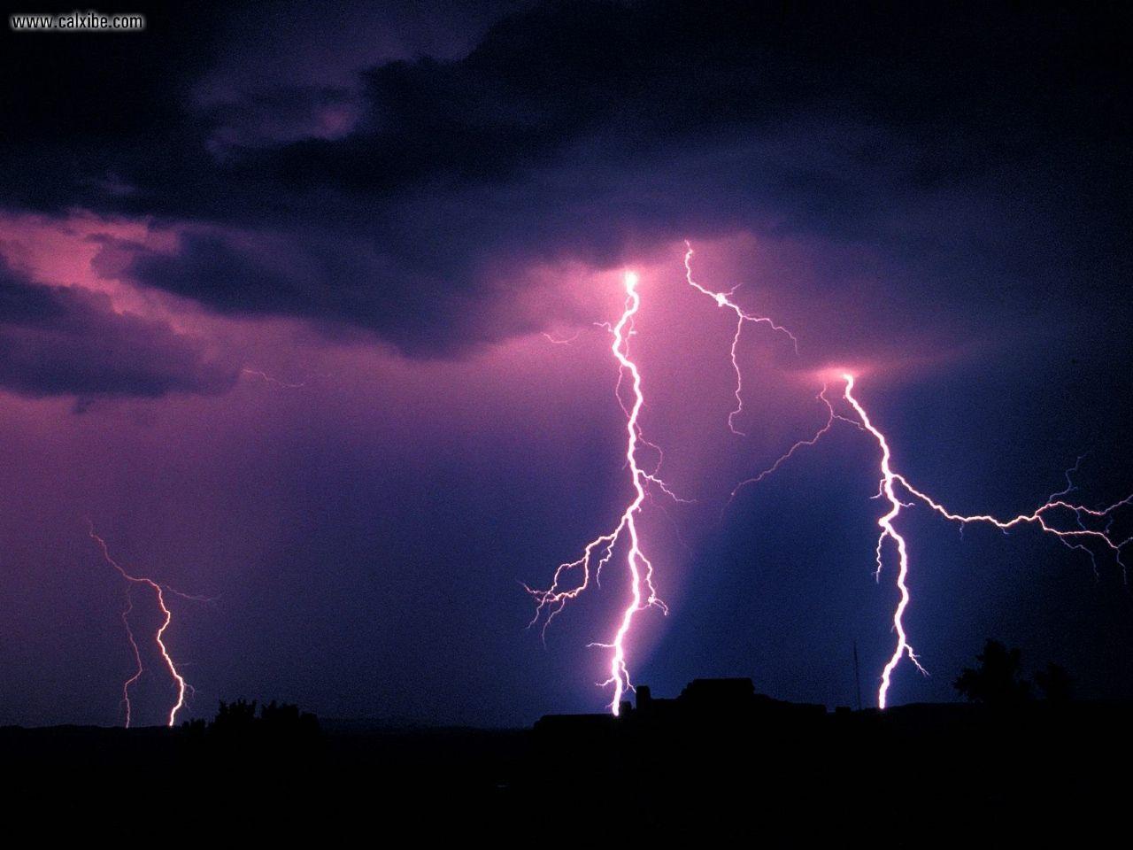 1280x960 Nature Lightning Storm Petrified Forest National Park Arizona