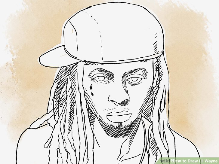 728x546 How To Draw Lil Wayne 13 Steps (With Pictures)