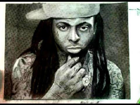 480x360 How To Draw Rapper Lil Wayne Step By Step Portrait