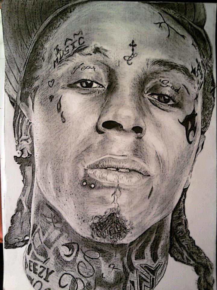 720x960 Lil Wayne Realistic Portrait By 5c0rp