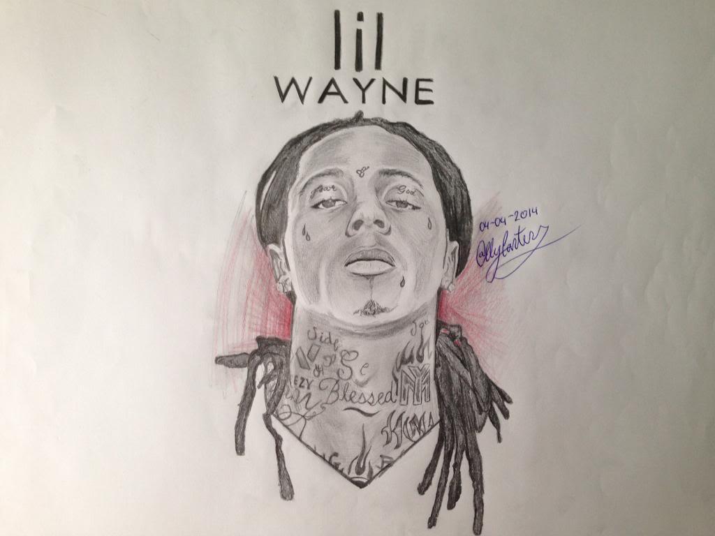 1024x768 New Lil Wayne Drawing.