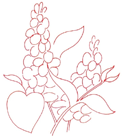 400x440 How To Draw A Lilac In 5 Steps Lilacs, Sketches And Drawings