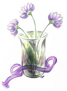 222x300 Lilac Flower Drawings Fine Art America
