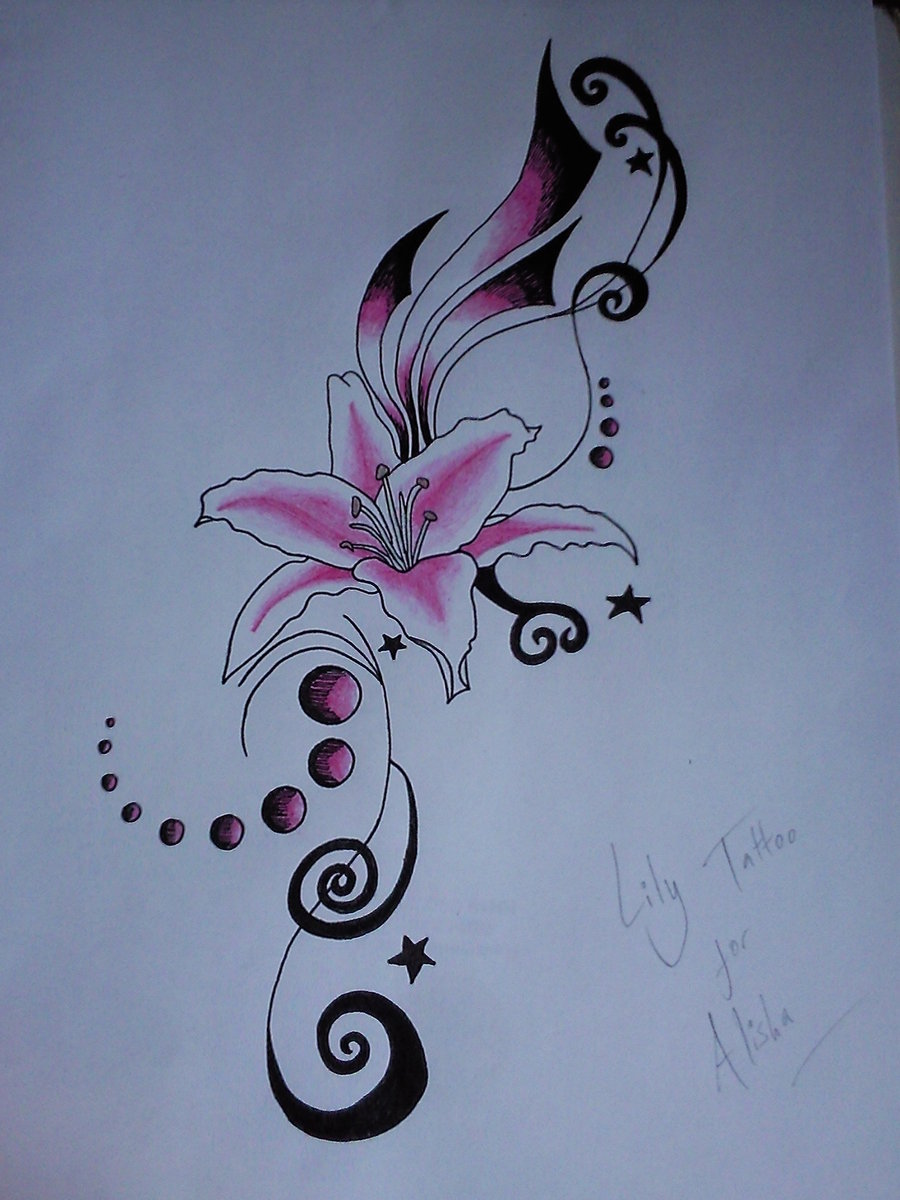 Lily flower tattoo drawing at getdrawings free for personal 900x1200 61 lily flowers tattoos collection izmirmasajfo