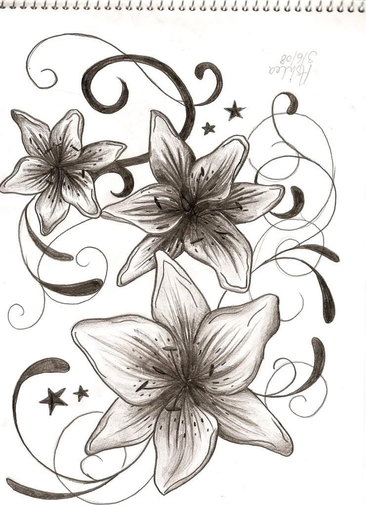 741x1022 Lily Tattoos Designs