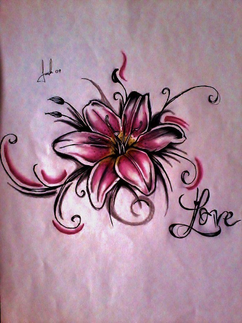 774x1032 Lily Tattoo By Lesweetlou Tattoo Ideas Tattoo