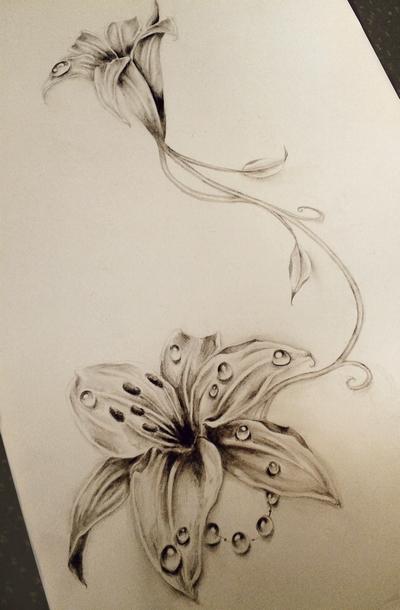 400x610 Lily Tattoo By Astenskaya