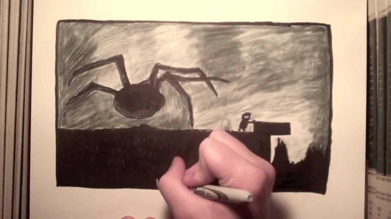 1280x720 Limbo Spider Drawing