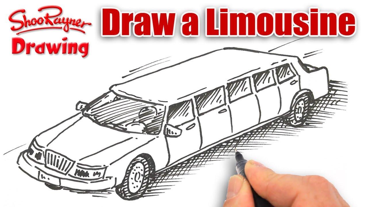 1280x720 How To Draw A Stretch Limousine