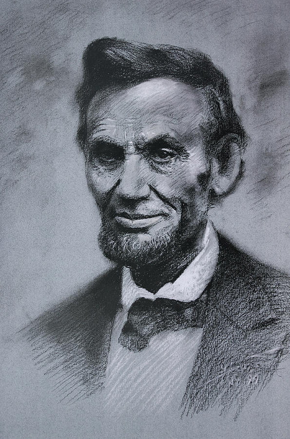 595x900 Abraham Lincoln Drawing By Viola El