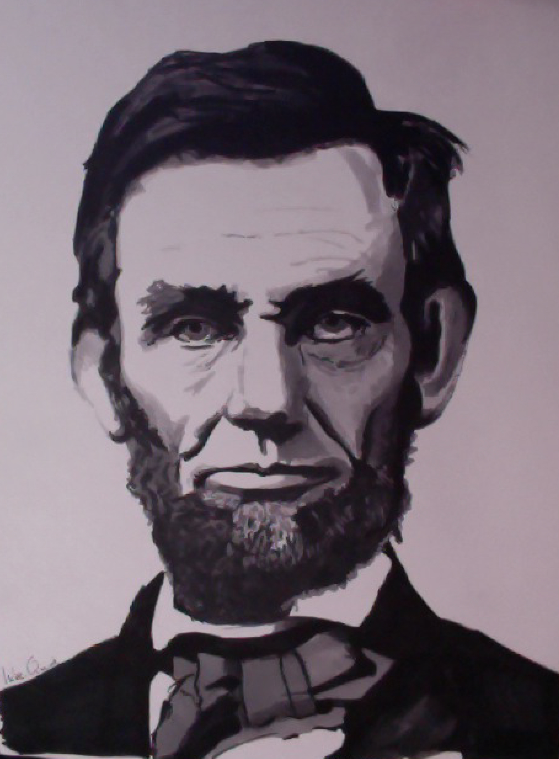 1893x2568 Abraham Lincoln Marker Drawing Kids Portrait Drawing Project