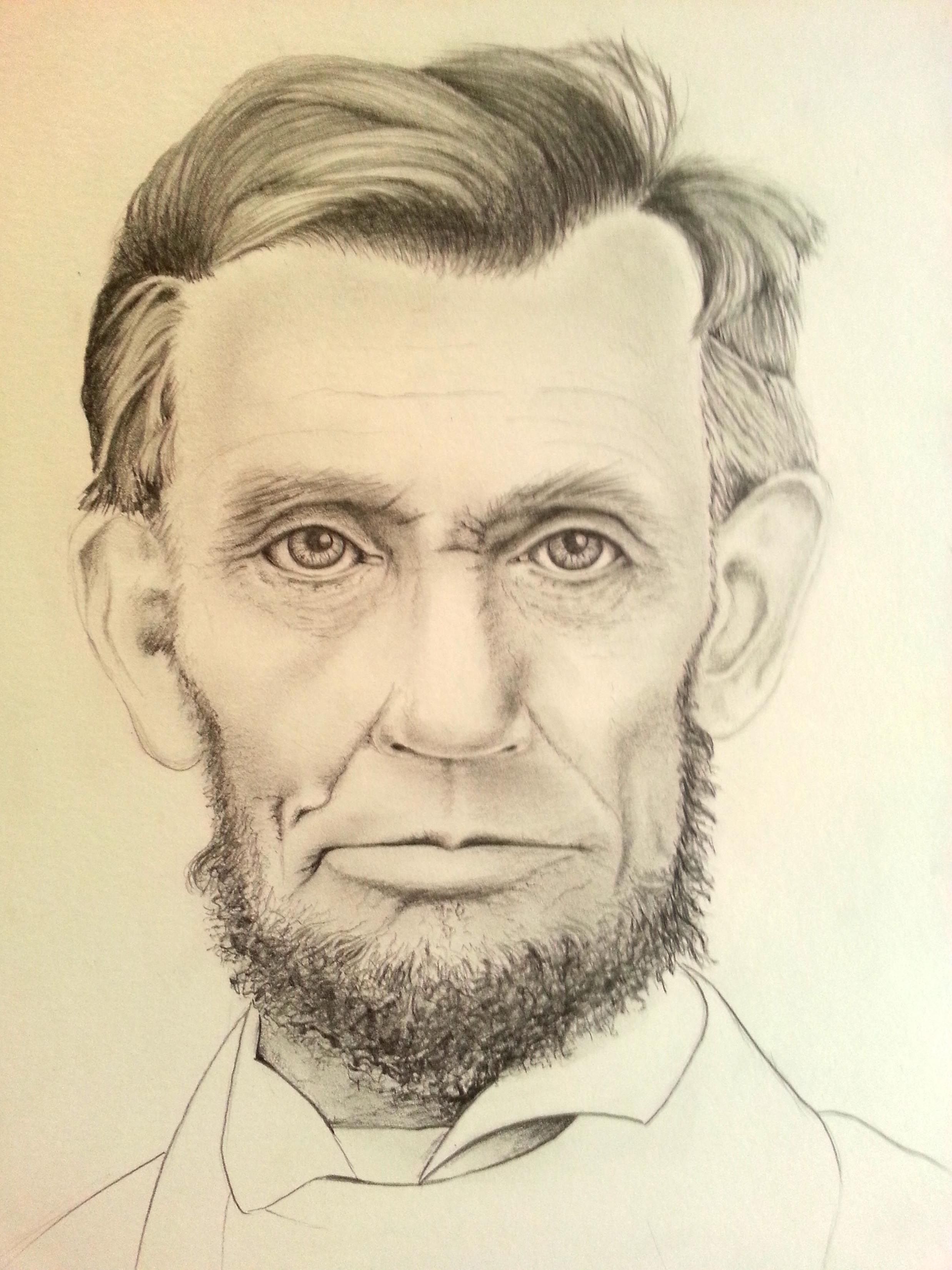 2475x3300 Abraham Lincoln Done In Graphite Pencil Alongside One Of My