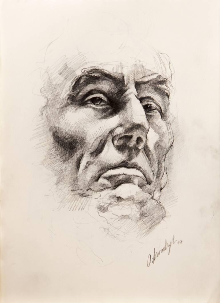 770x1061 Saatchi Art Portrait Of Abraham Lincoln Drawing By Onur Karaalioglu