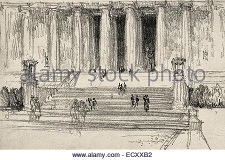 450x320 Lincoln Memorial, Washington, Dc, Circa 1918 Stock Photo