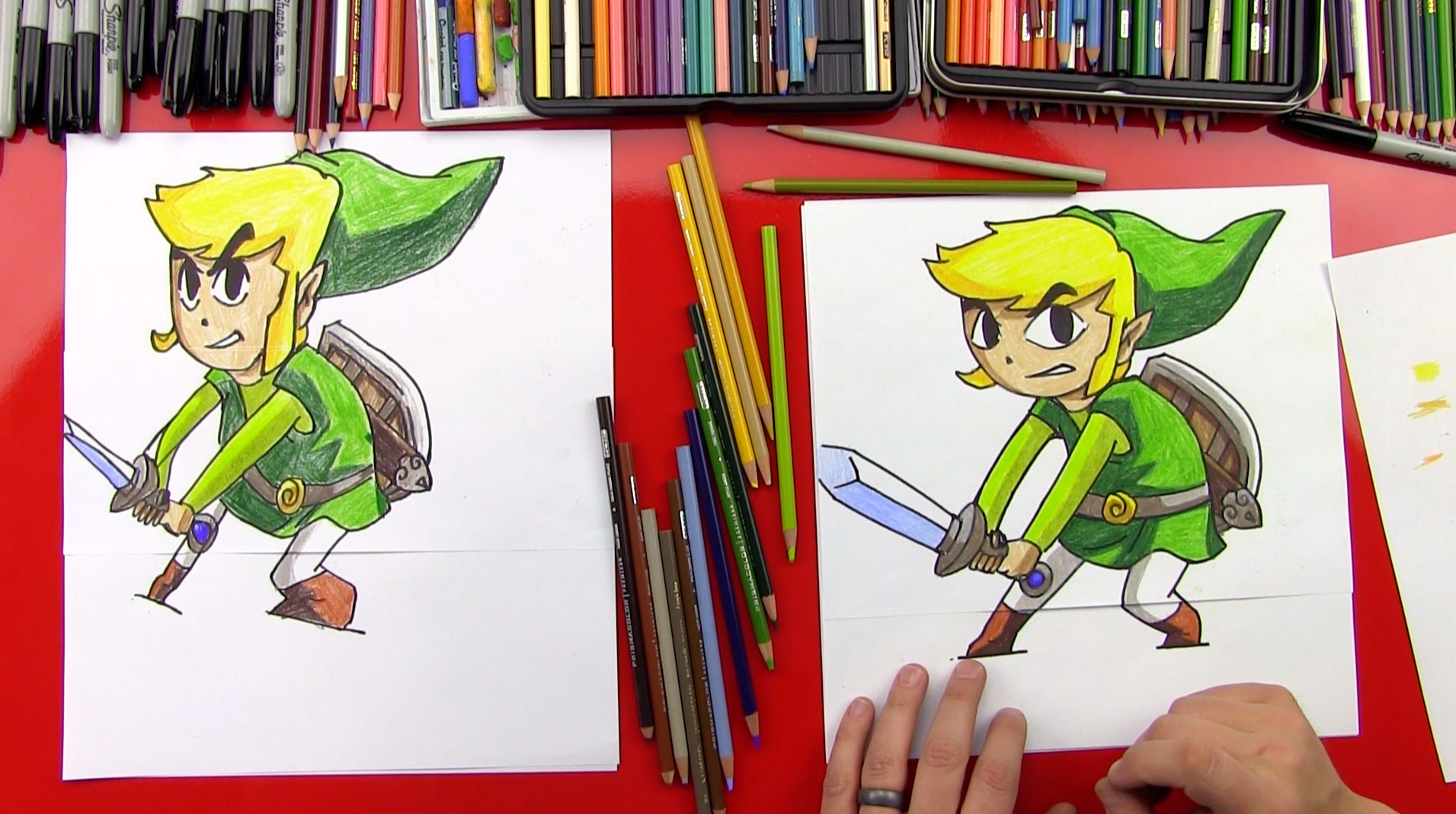 1911x1069 How To Draw Toon Link