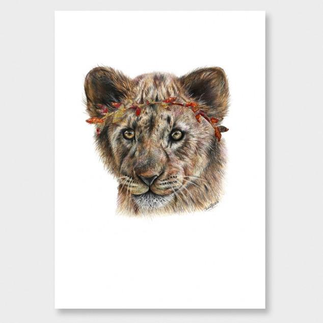 634x634 Lion Cub Art Print By Olivia Bezett Nz Art Prints, Art Framing