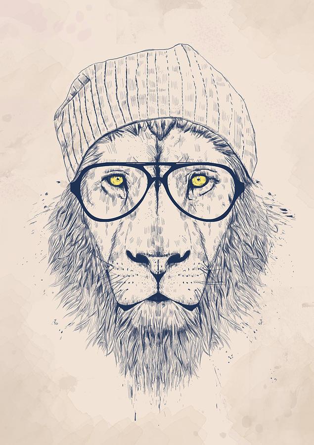635x900 Cool Lion Digital Art By Balazs Solti