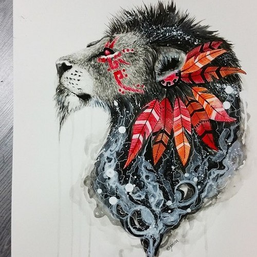 500x500 Most Popular Tags For This Image Include Lion, Art, Drawing
