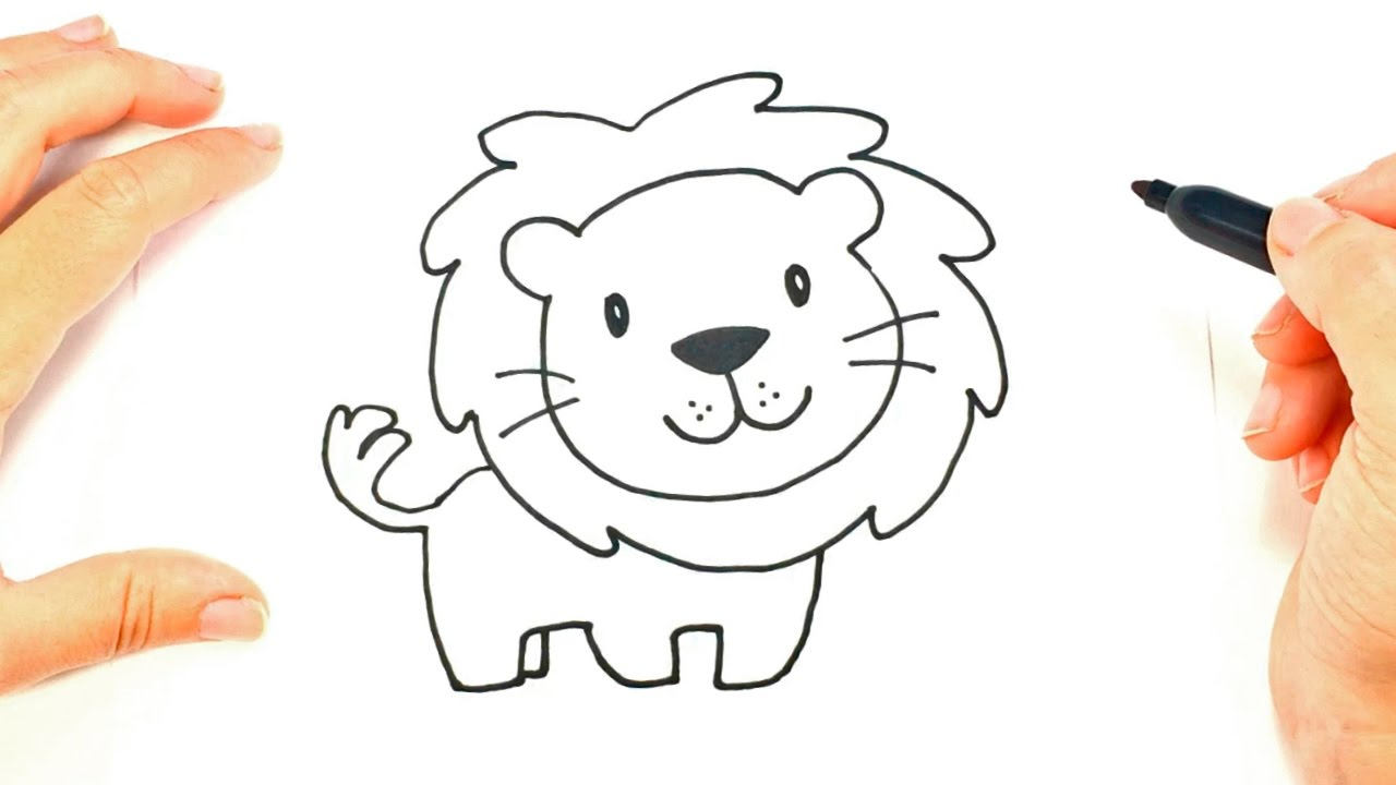 1280x720 Cartoon Lion Drawing How To Draw A Lion Face Lion Head Easy Draw