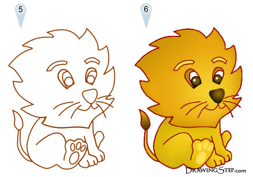 500x350 lion drawings