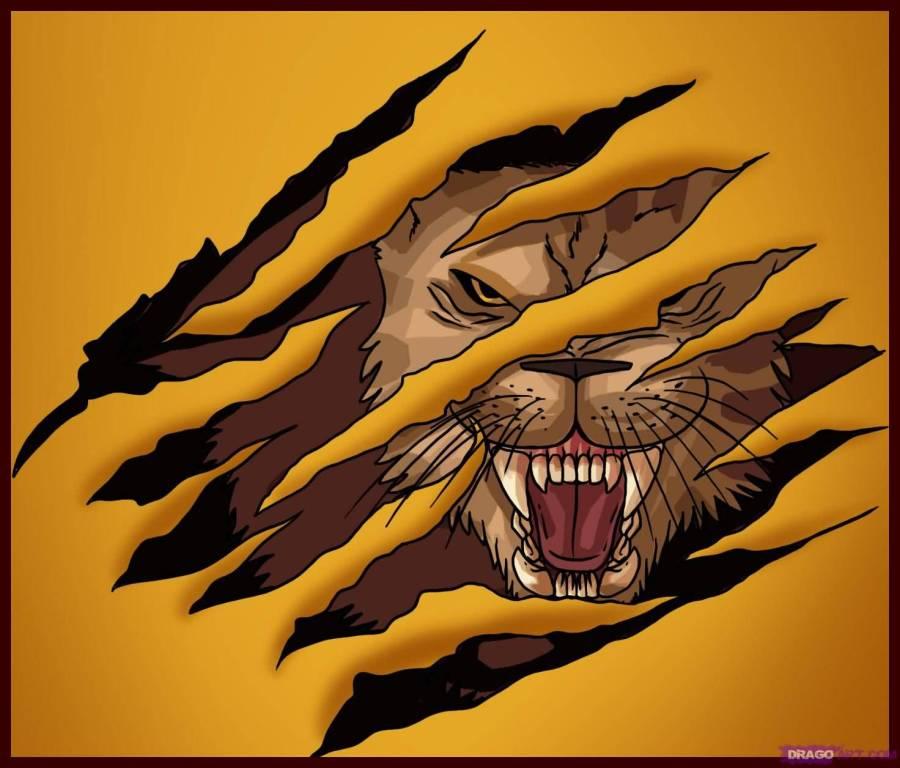 900x768 Lion Claw Tattoo Graphic