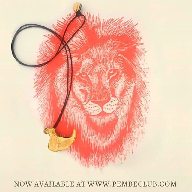 640x640 Lion Claw Pendant On Leather Cord, Available