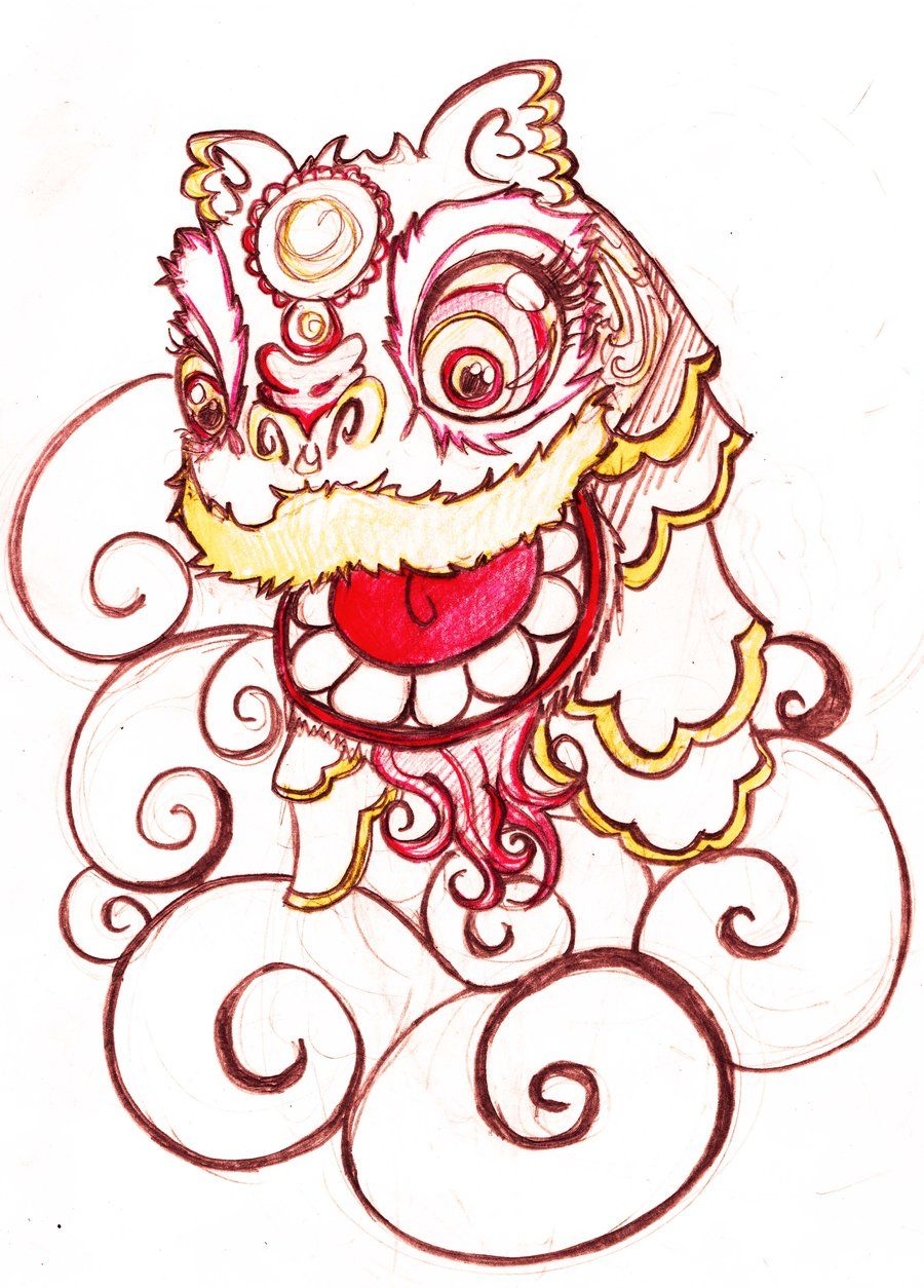 900x1254 Image Result For Lion Dance Drawing Dragon Lion