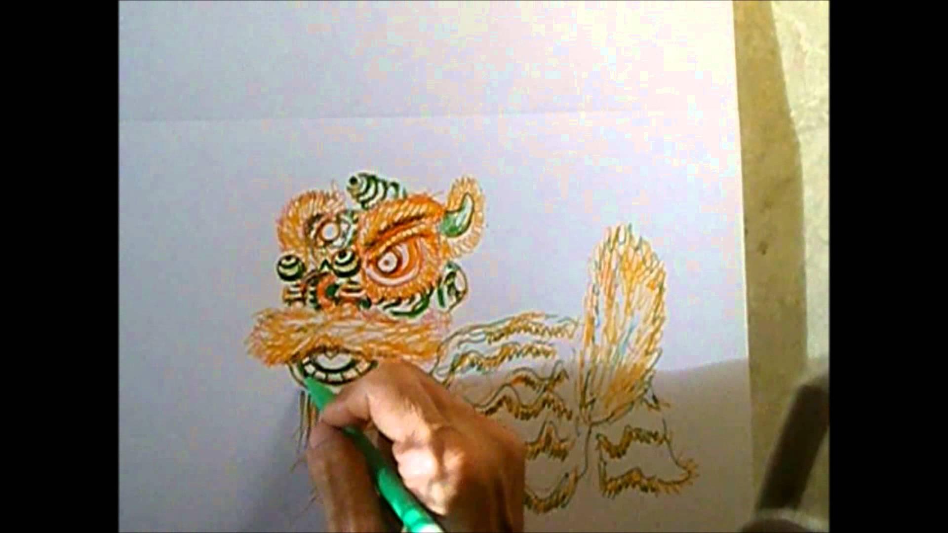1920x1080 Lion Dance Drawing 03 Drawing Modern Foshan Lion Hd
