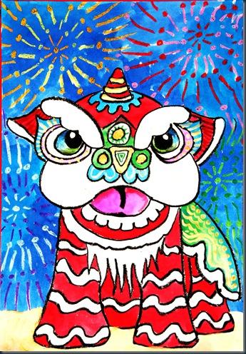 345x496 Smart Class Chinese New Year Lion Dancers