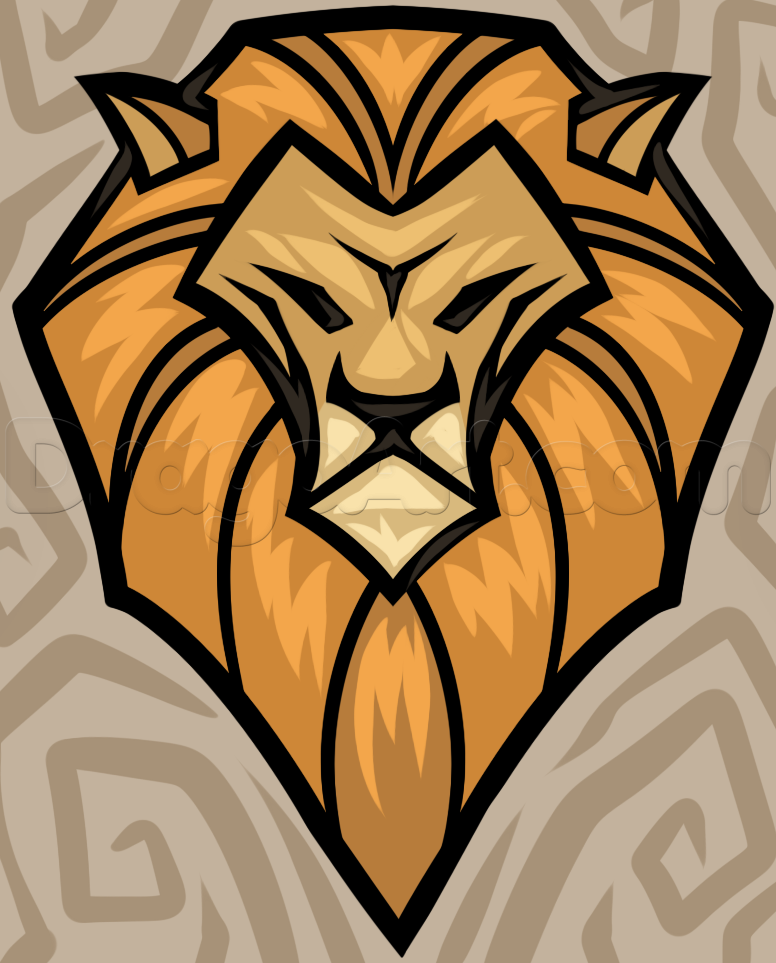 776x963 Learn How to Draw a Cool Lion Head, safari animals, Animals, FREE