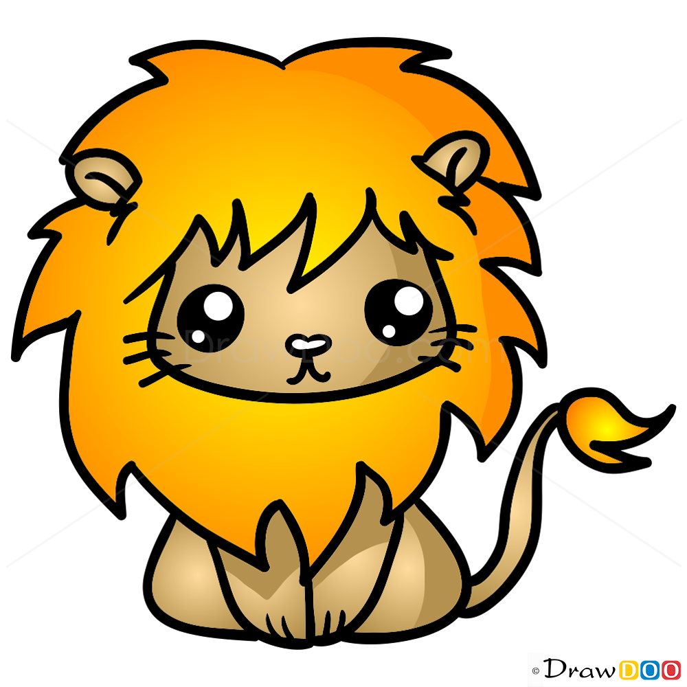 1000x1000 How To Draw Lion, Chibi