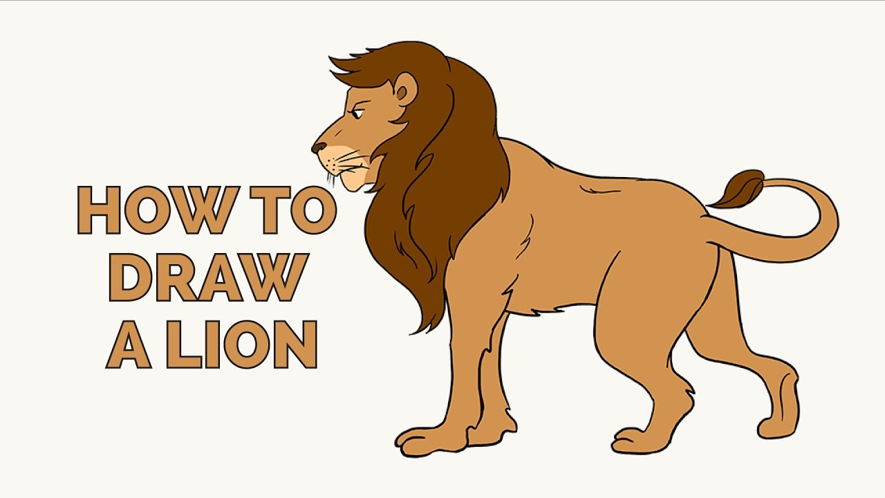 1280x720 How To Draw A Lion