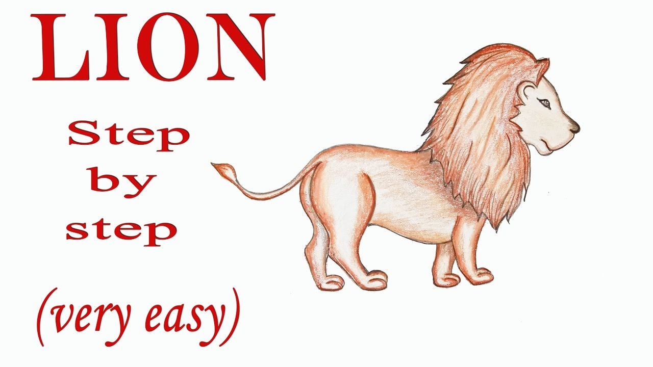 1280x720 How To Draw A Lion Step By Step (Very Easy)