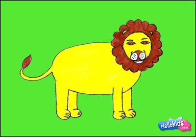 400x279 How To Draw Lion