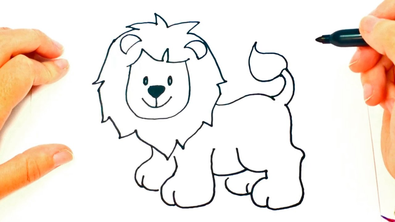 1280x720 How To Draw A Lion For Kids Lion Drawing Lesson Step By Step
